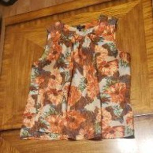 Talbots Floral Silk Sleeveless Blouse